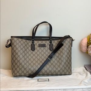 Gucci monogram structured  ZipUp Tote with strap